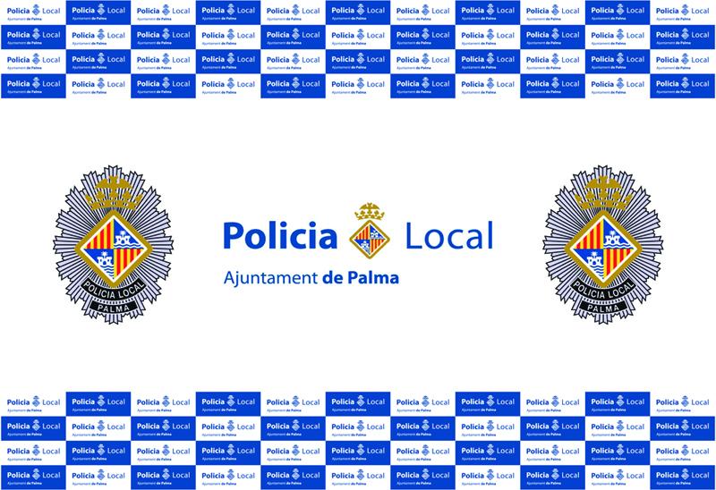 Diseño de una lona para la Policía Local