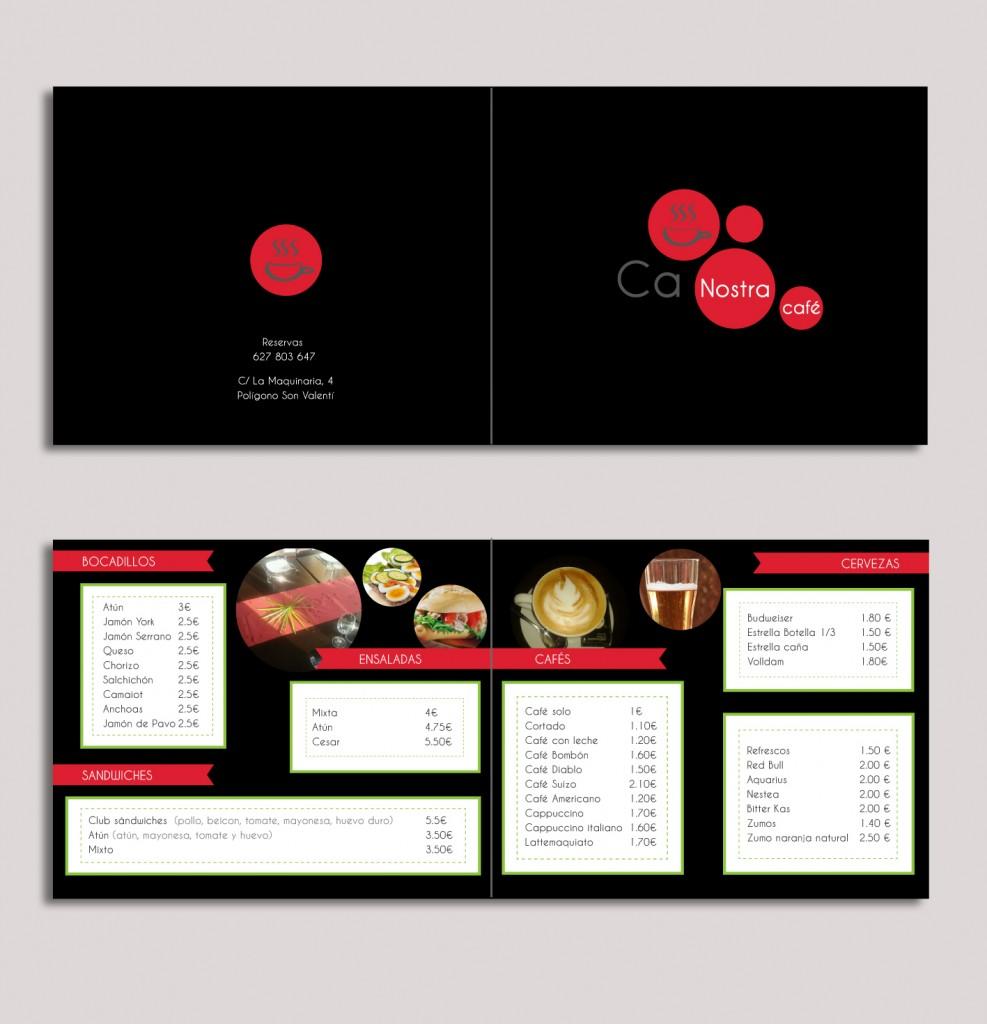 diseño gráfico carta restaurante