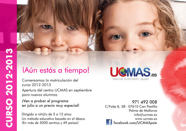 Diseño flyer Ucmas Spain