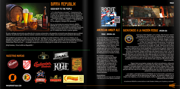 diseño gráfico catálogo cervezas