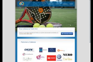 diseño página web torneo pádel