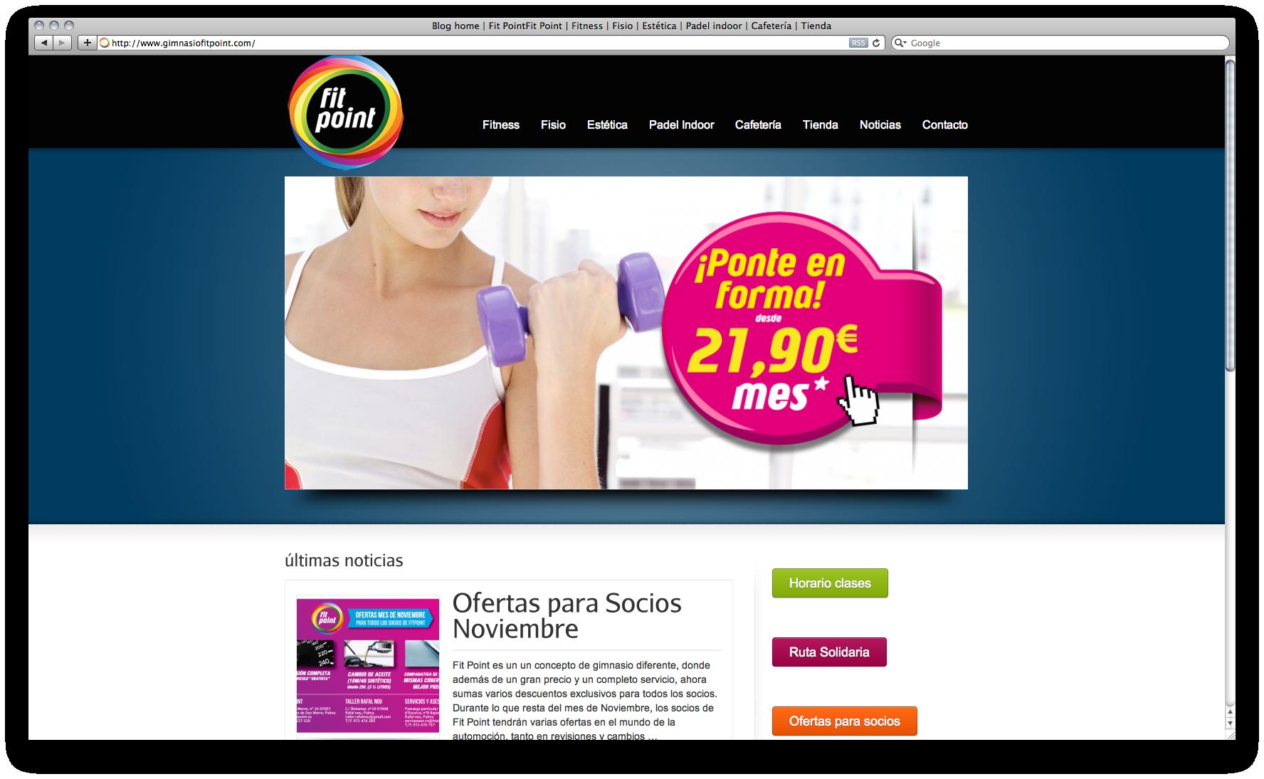 Dise O P Gina Web Gimnasio H2a Comunicaci Agencia