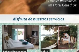 Para el hotel Cala d´Or realizamos el diseño gráfico de un nuevo roller publicitario de presentación del Hotel a los clientes.