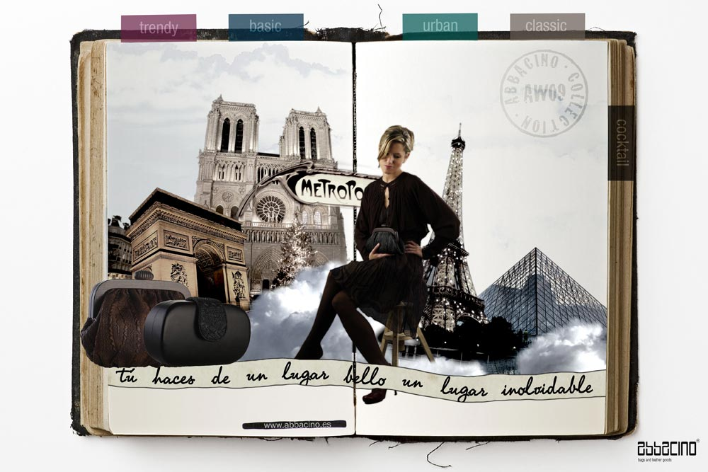 Campaña Abbacino AW'09. Ejecución París