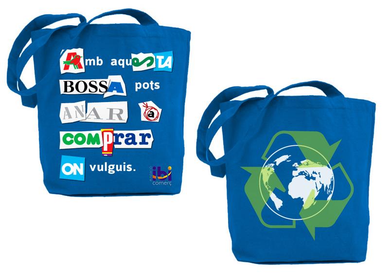 Diseño Bolsas Reciclables para el IBI Comerç