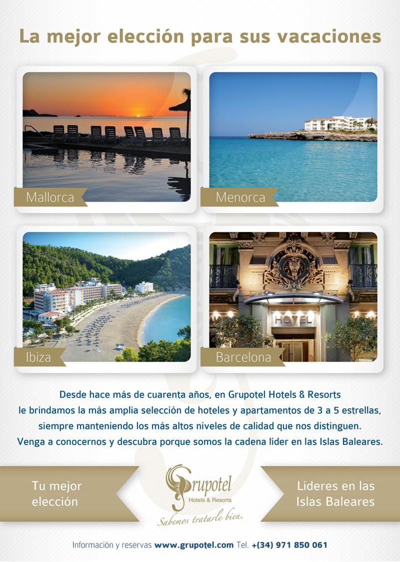 Diseño anuncio Ofertas Grupotel para Verano