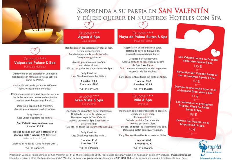 Diseño anuncio Ofertas Grupotel San Valentín