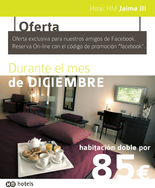 Diseño de Banner para el Facebook del hotel HM Jaime III