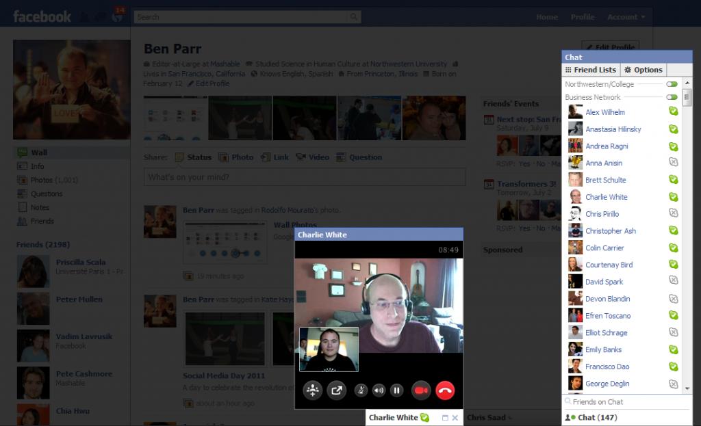 Nueva herramienta de videollamada Facebook y Skype