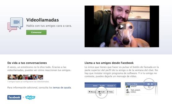 Nuevo servicio de videollamada en Facebook