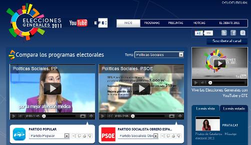 Elecciones 2011 Canal Youtube