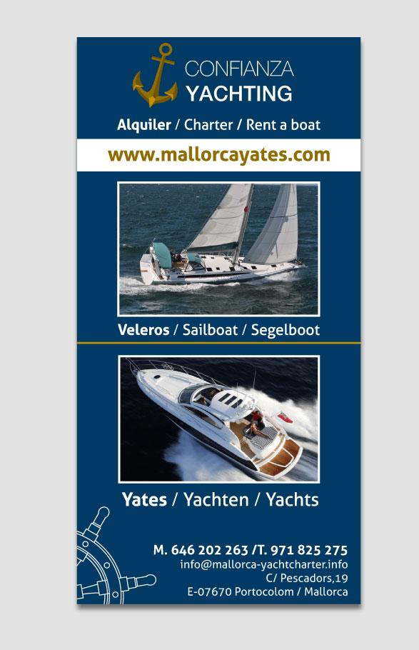 diseño gráfico flyer promoción barcos