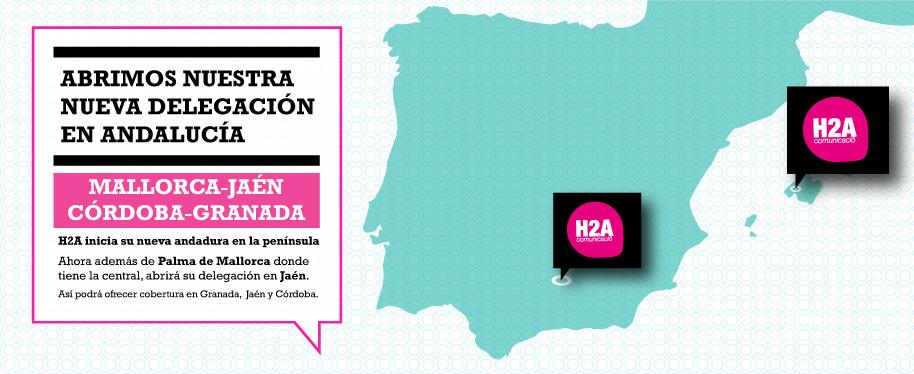 delegación h2a comunicación en Jaén