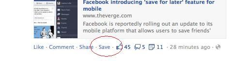 nuevo botón save facebook