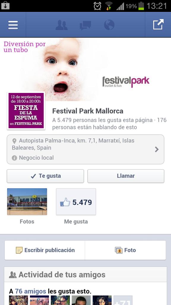 Nuevas Páginas de Facebook para Móviles