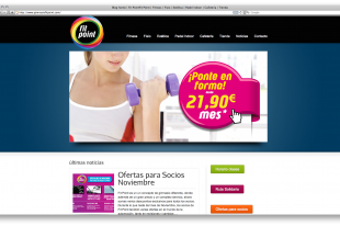 diseño página web gimnasio