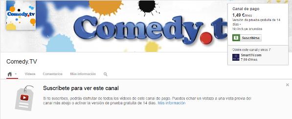 canales de pago en Youtube