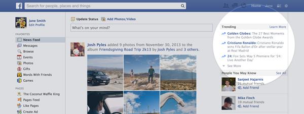 trending topics facebook