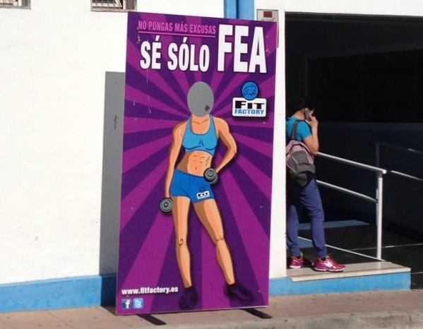 gimnasio fit factory ronda malaga sexismo se solo fea